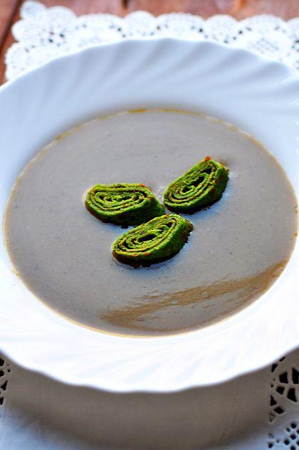 Przepisy Thermomix Zupa krem z grzybów leśnych
