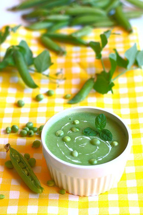 Thermomix przepisy. Zupa krem z groszku zielonego.